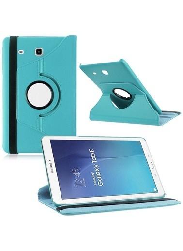 Techmaster Samsung Tab A 10.1(2019) T510 Tablet Dönebilen Standlı Kılıf Turkuaz